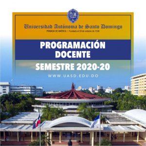 Programación docente 2020-20