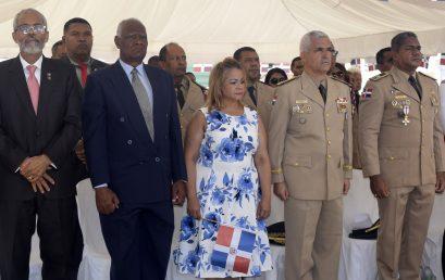 Director UASD Centro San Juan de la Maguana y varios profesores depositan ofrenda floral en el 158 aniversario Martirologio de Sánchez