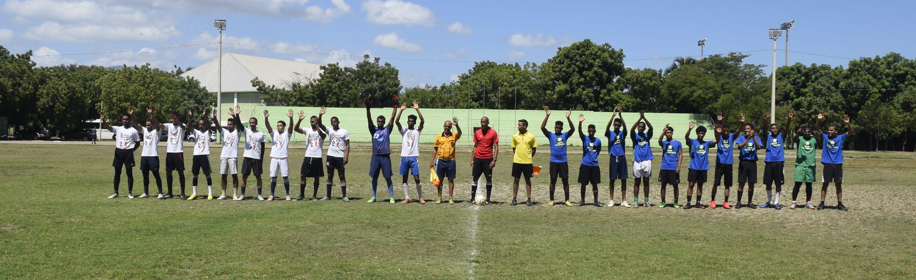 San Juan y Barahona clasifican en Fútbol de Campo y Sala en eliminatorias Juegos Universitarios Tony Barreiro.