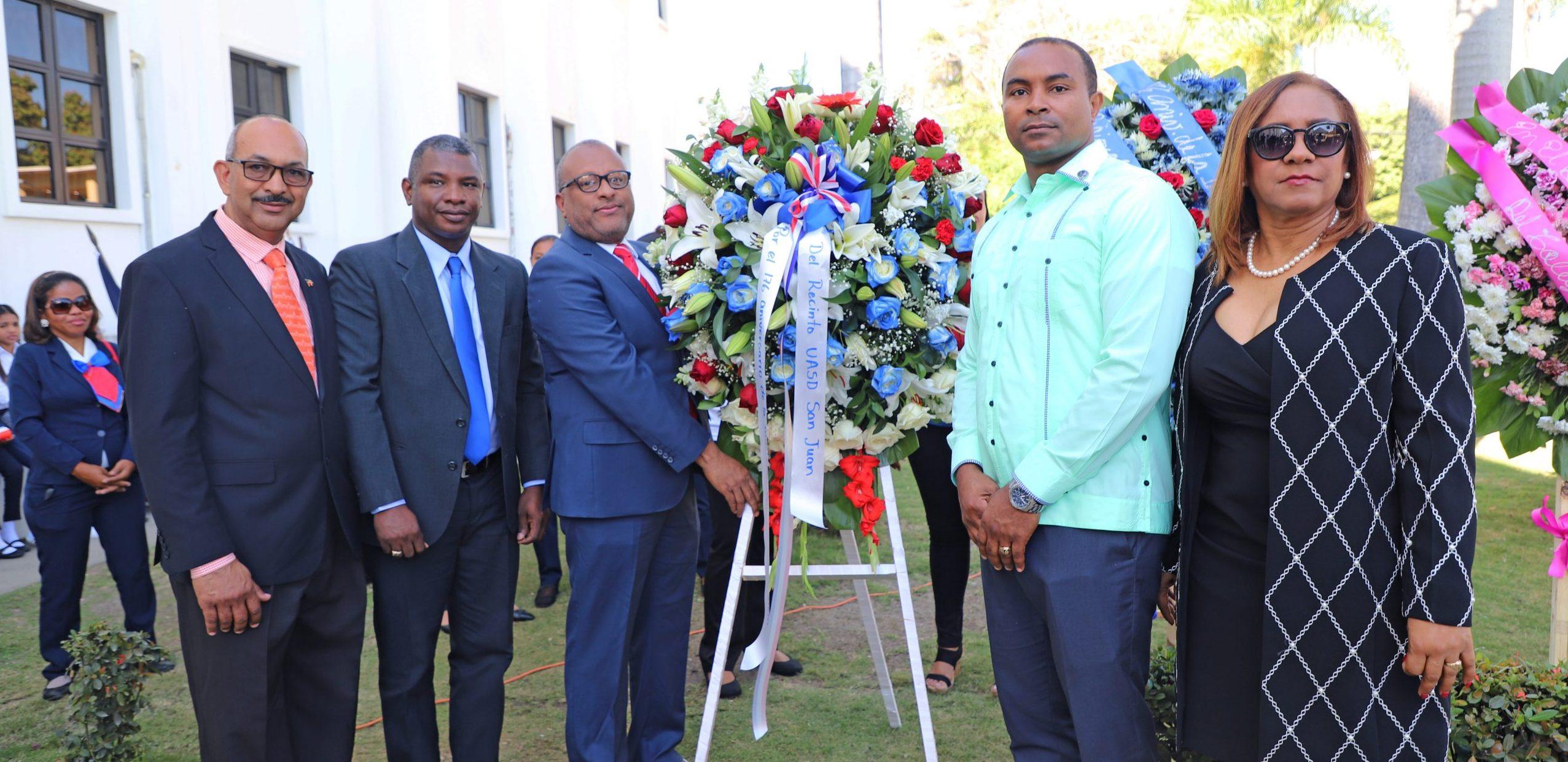 UASD Centro San Juan de la Maguana participa en acto conmemorativo al 176 aniversario del Día de la Independencia Nacional